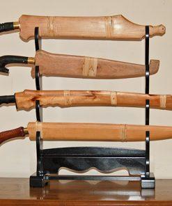 TFW 4 Sword Wooden Desk Top Sword Stand
