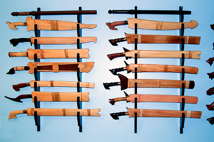 7 Sword Wall Rack Traditional Filipino Weapons